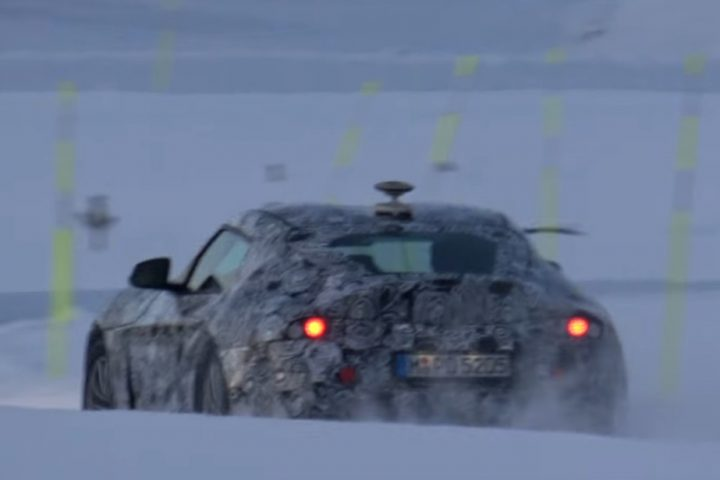 Toyota Supra 2018 snow test