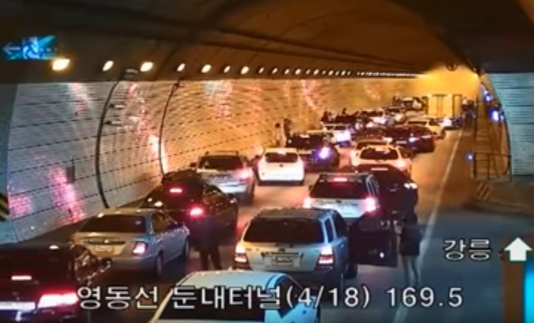 Wypadek w tunelu