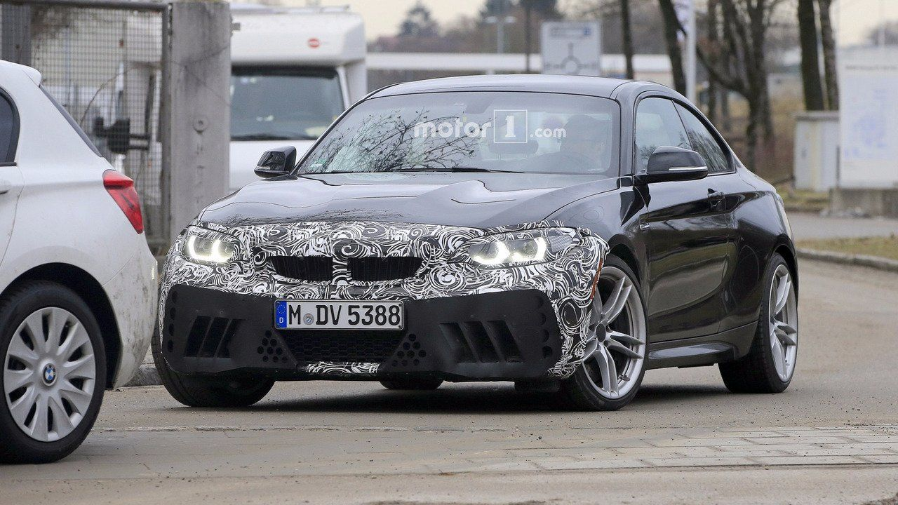 BMW M2 2018 facelift spy