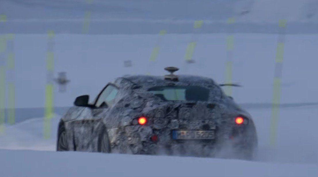 Toyota Supra 2018 snow test