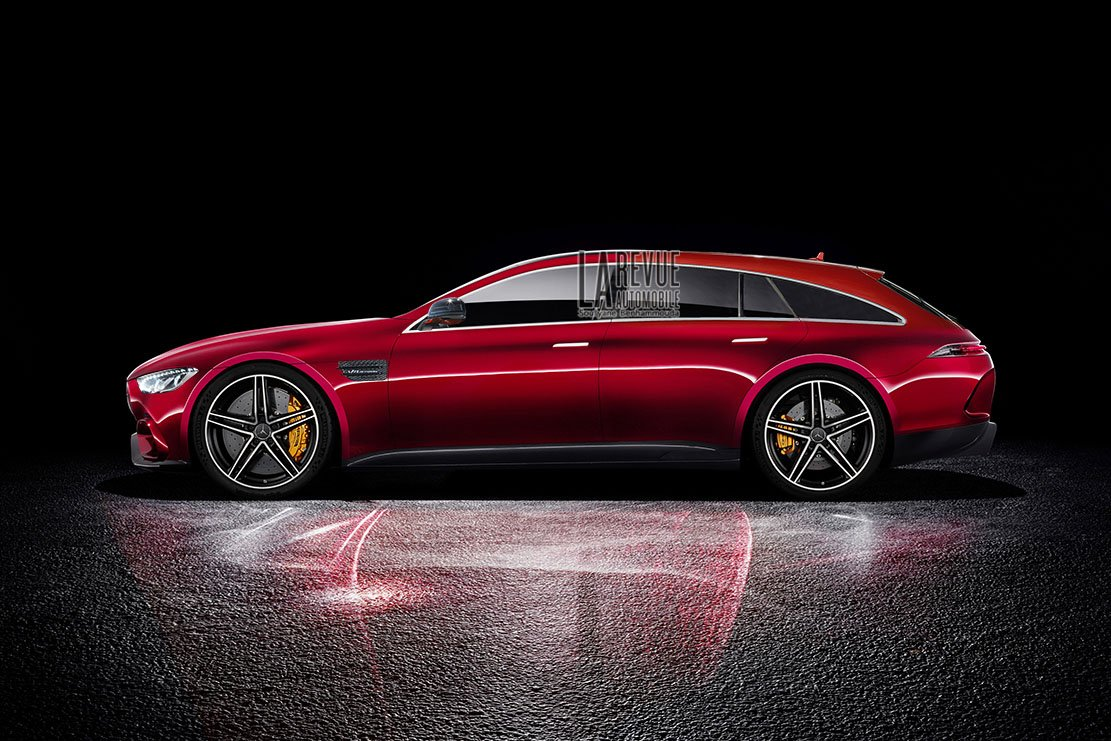 Mercedes-AMG GT4 Shooting Brake rendering