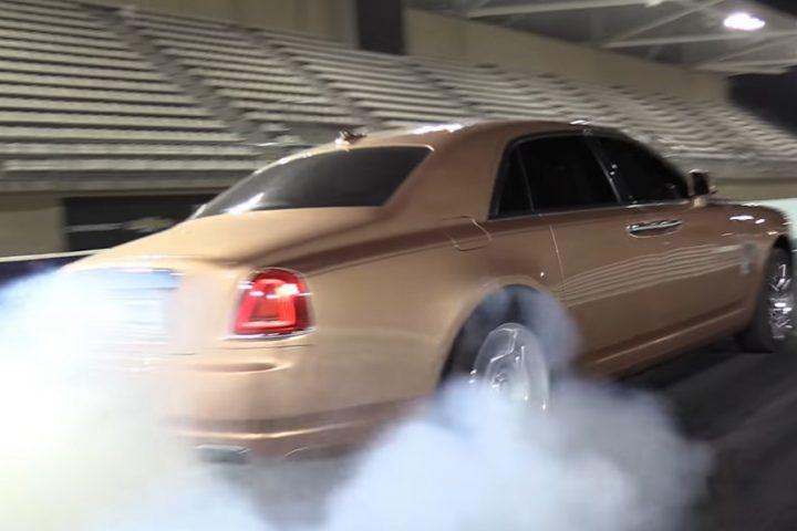 Rolls Royce Ghost burnout