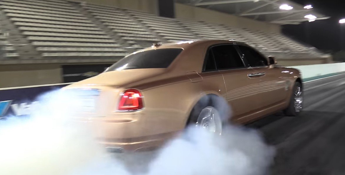 Rolls Royce Ghost burnout