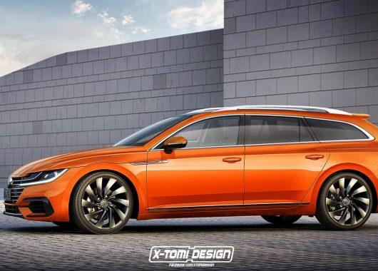 Volkswagen Arteon Variant rendering