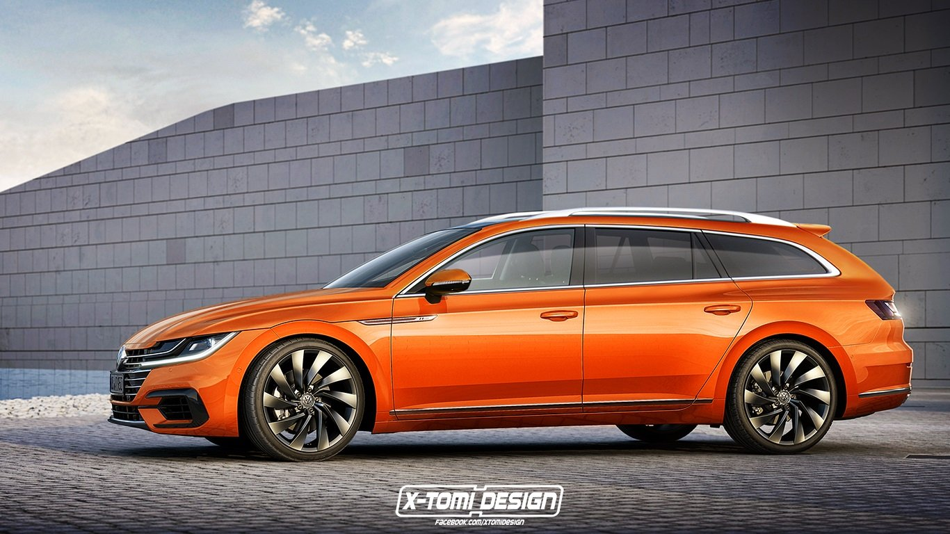 volkswagen arteon variant rendering motofilm. Black Bedroom Furniture Sets. Home Design Ideas