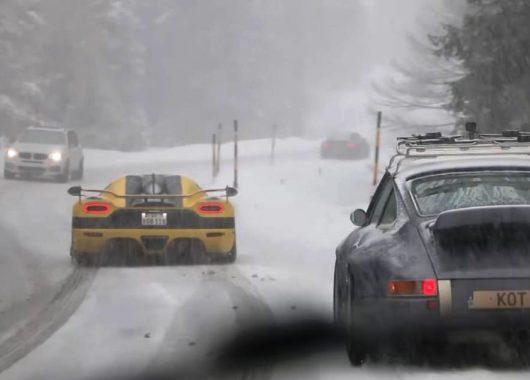 Koenigsegg Agera R w zaśnieżonych Alpach
