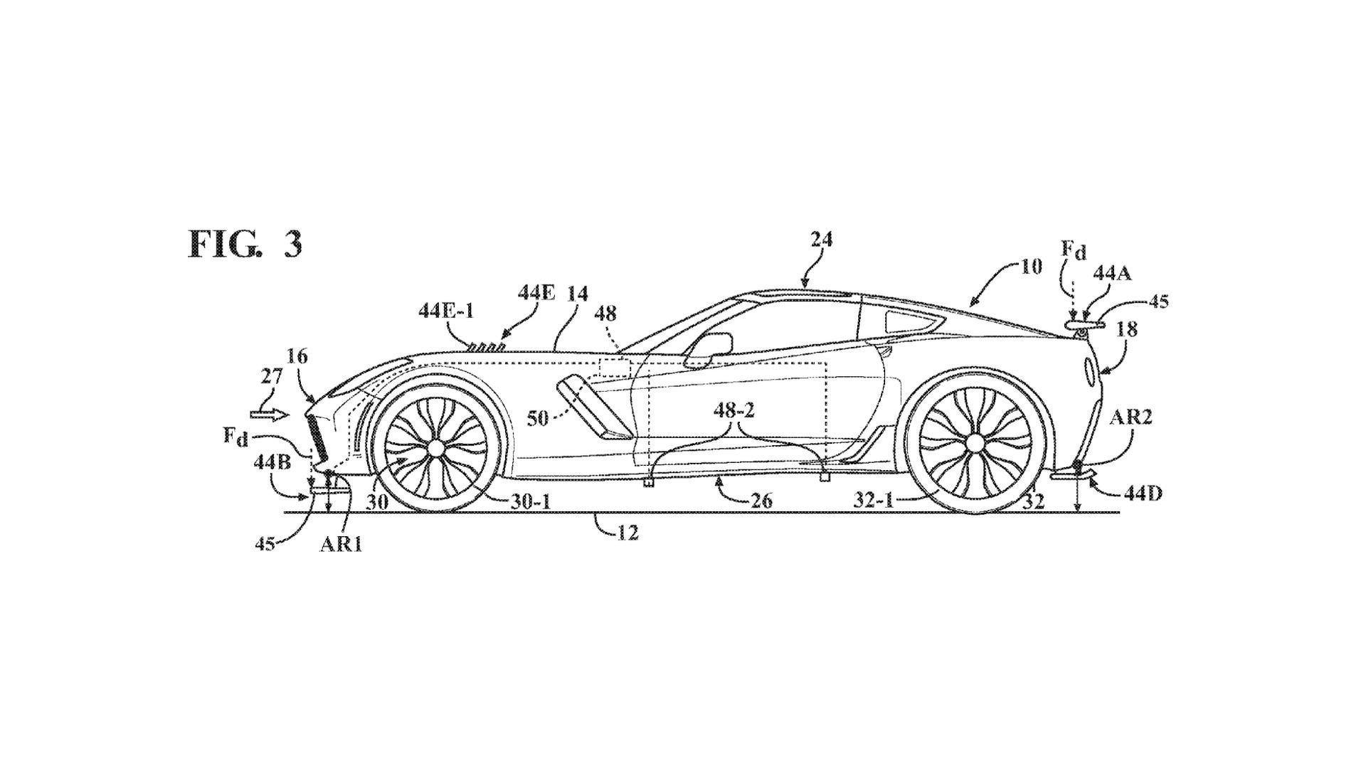 Chevrolet Corvette aktywna aerodynamika