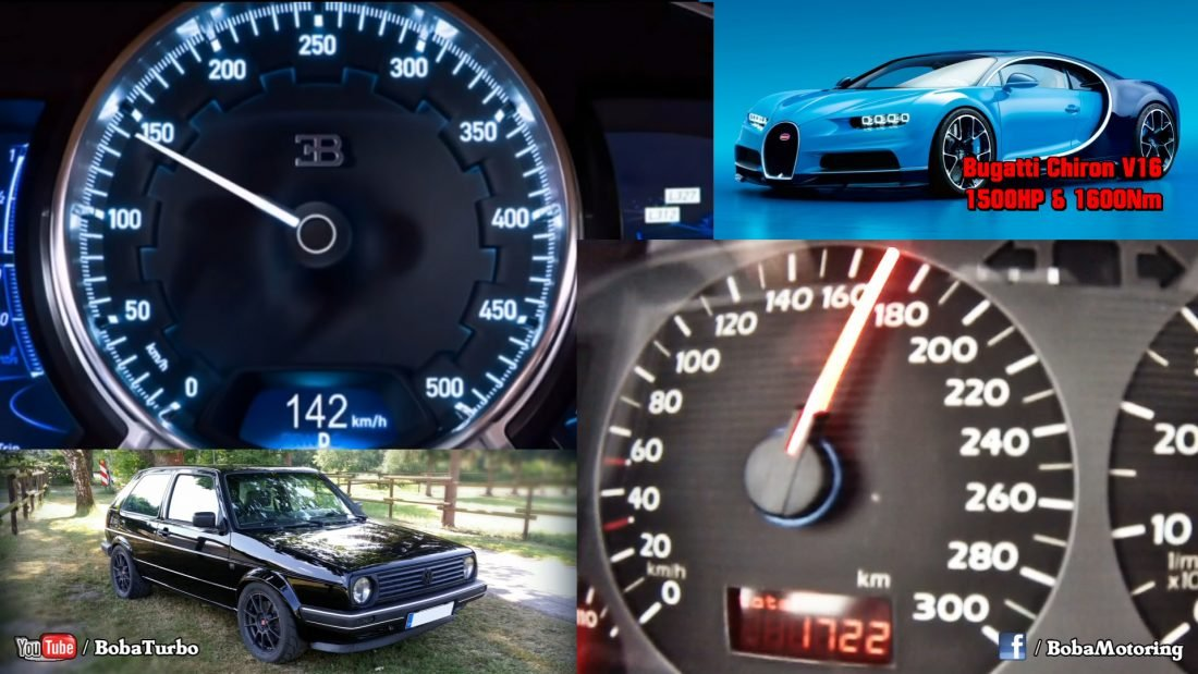 Volkswagen Golf vs Bugatti Chiron