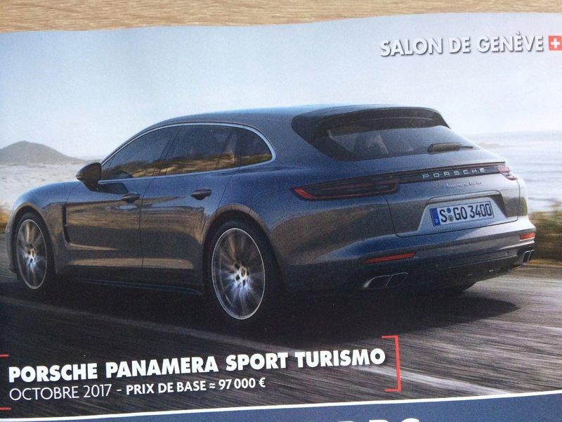 Porsche Panamera Sport Turismo leaked