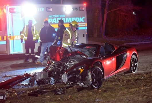 McLaren 650S Spider after crash