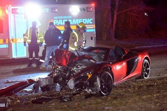 McLaren 650S Spider after crash