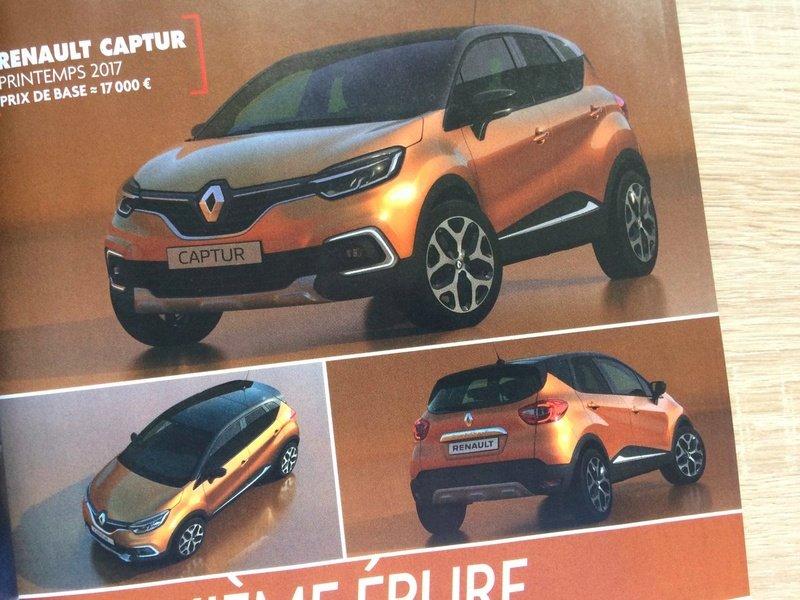 Renault Captur 2017 leaked