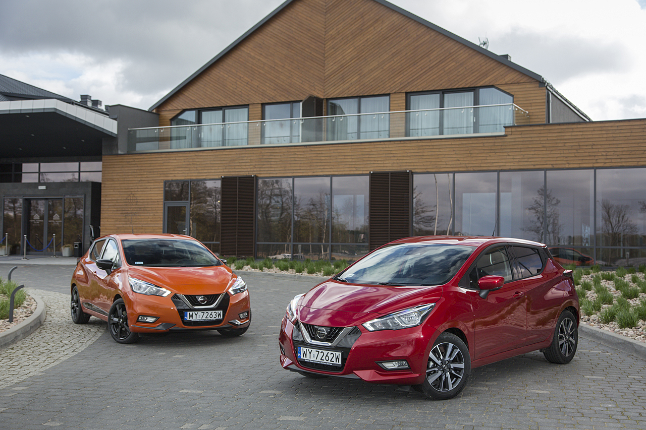 Nissan Micra 2017 orange red