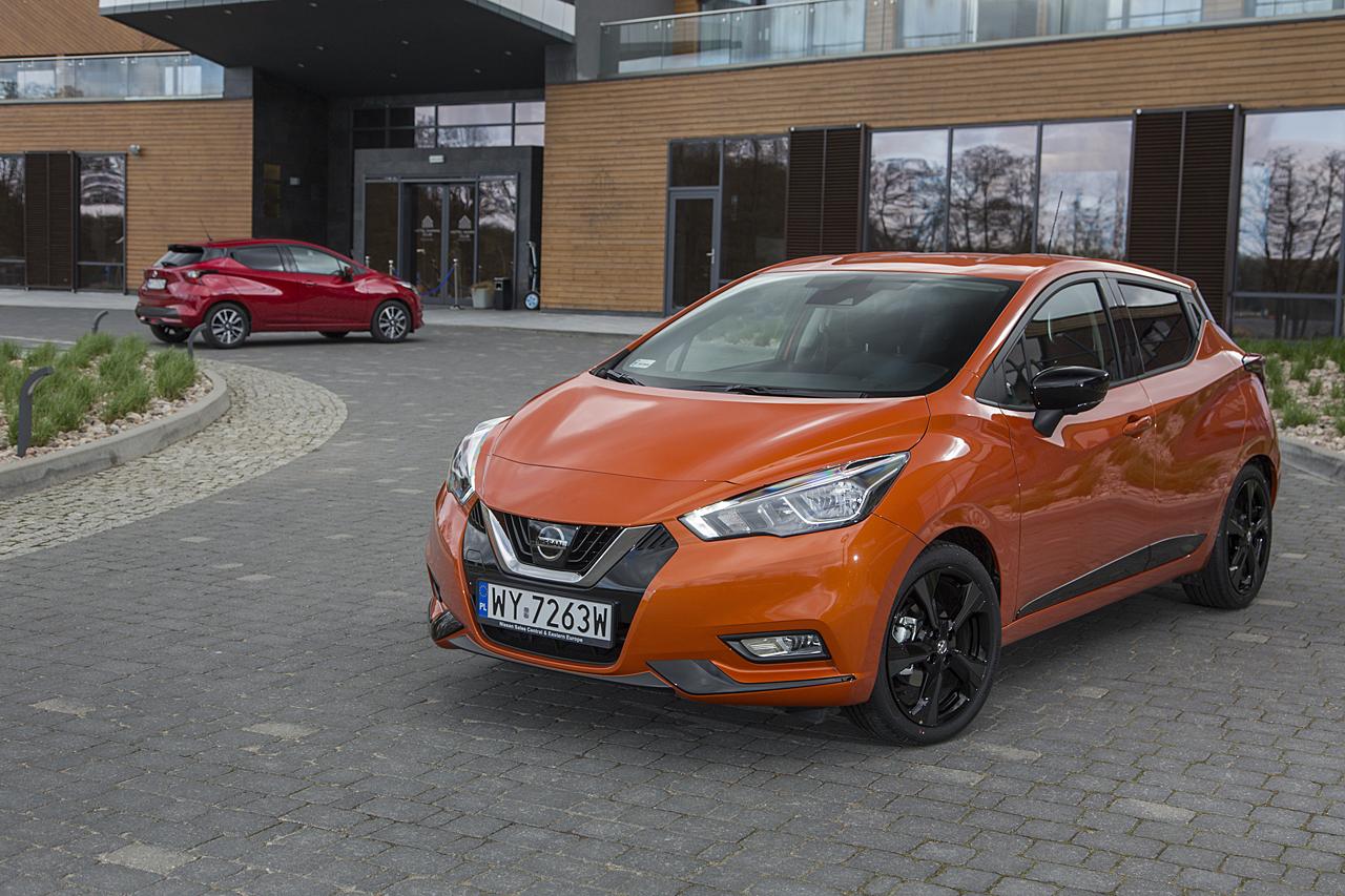 Nissan Micra 2017 orange red