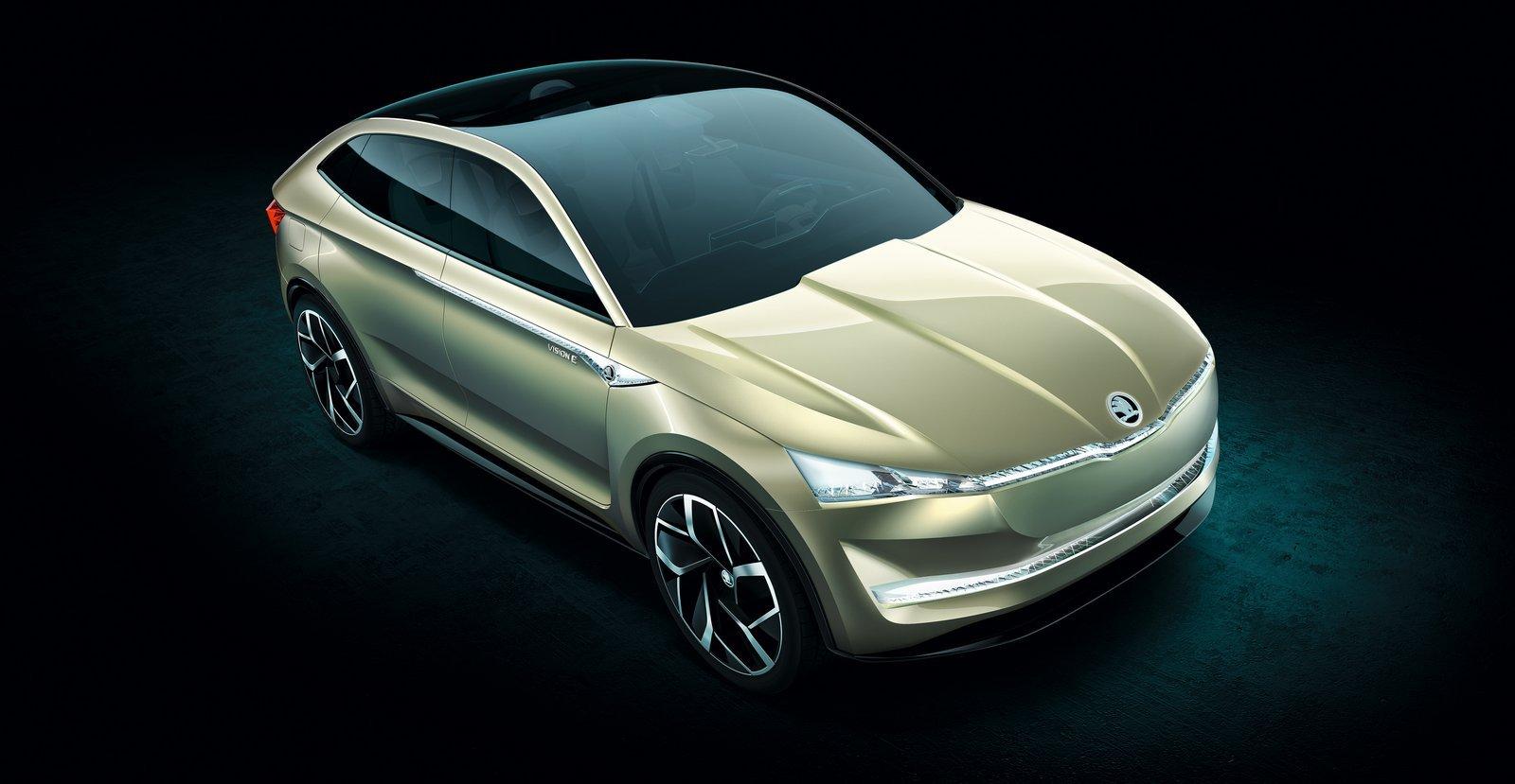 Skoda Vision E Coupe Crossover Concept