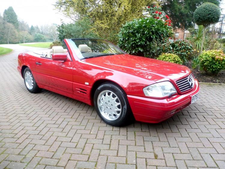 Mercedes-Benz SL500 1996 red
