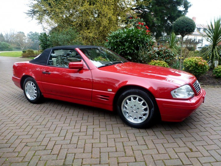 Mercedes-Benz SL500 1996 red