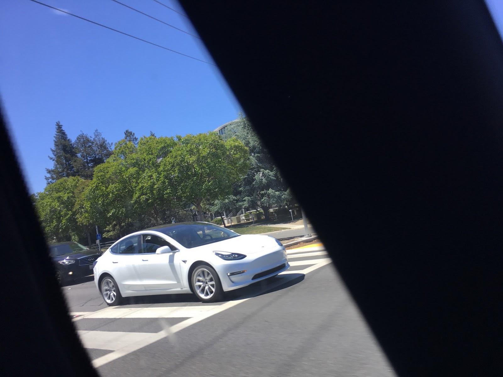 Tesla Model 3 spotted