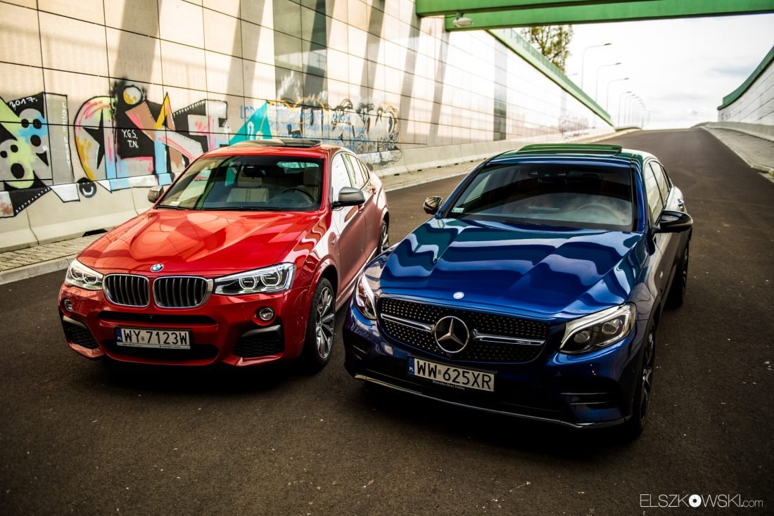BMW X4 M40i Mercedes-AMG GLC43 Coupe