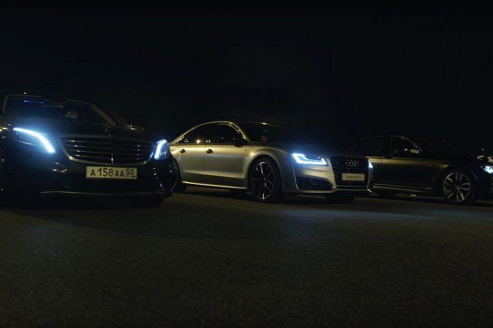 Mercedes-AMG S63 Audi S8 Plus BMW M760Li