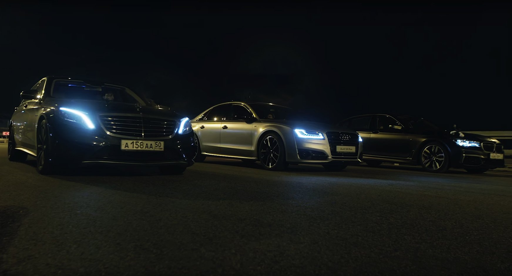 Mercedes-AMG S63 Audi S8 Plus BMW M760Li