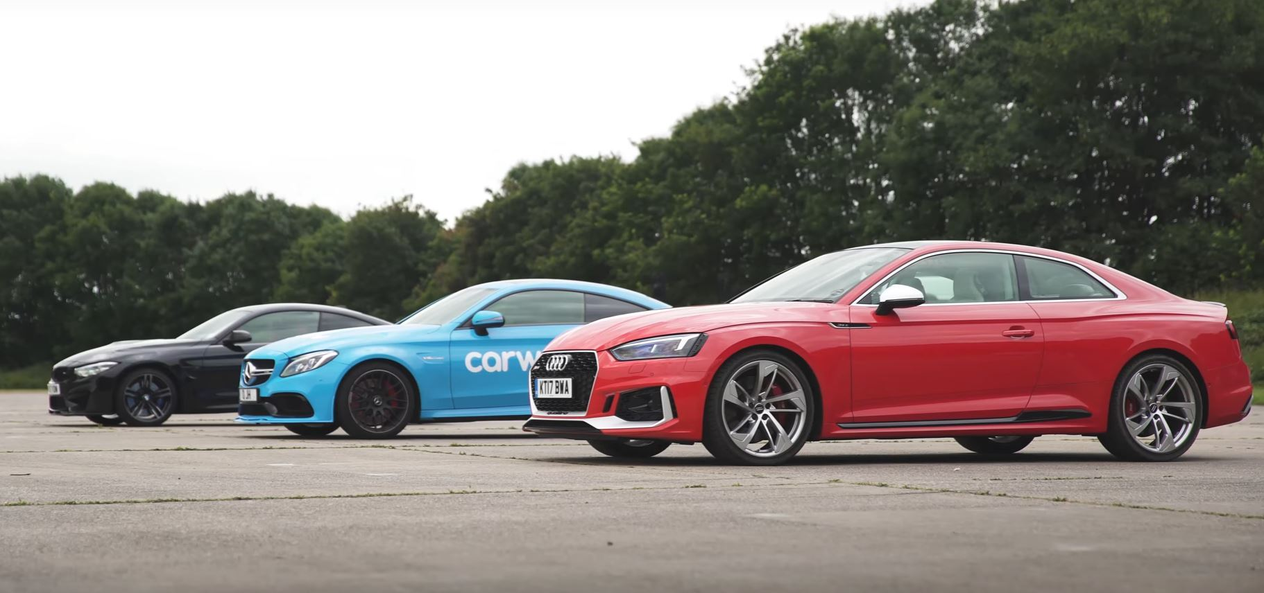 Audi RS5 v BMW M4 v Mercedes-AMG C63S