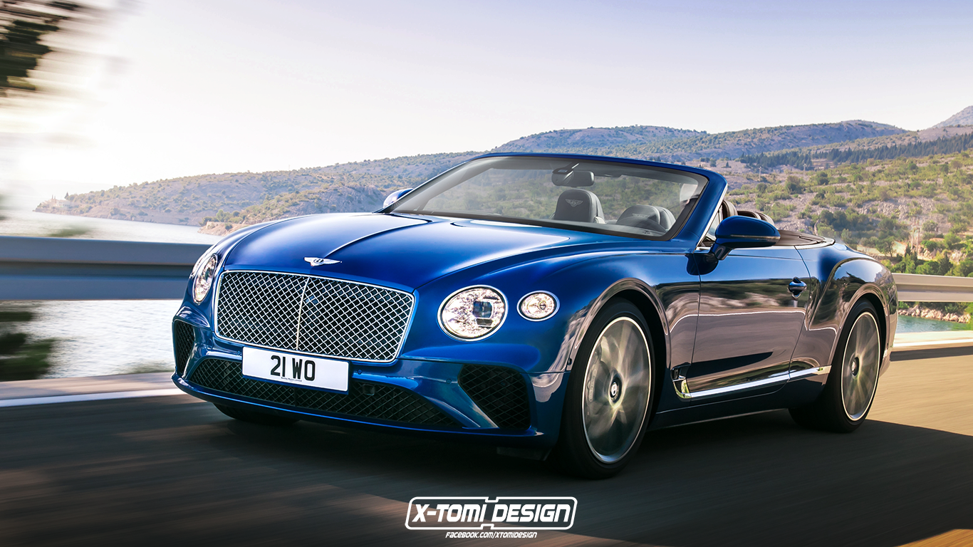 2018 Bentley Continental GT C Rendering