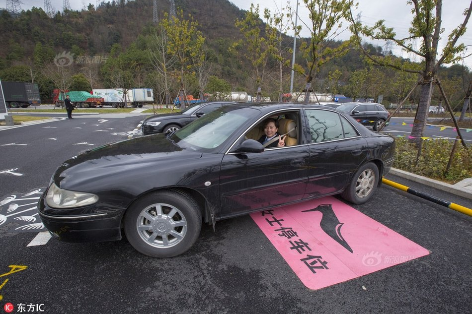 Lady parking