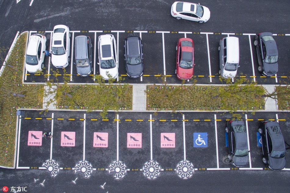 Lady parking