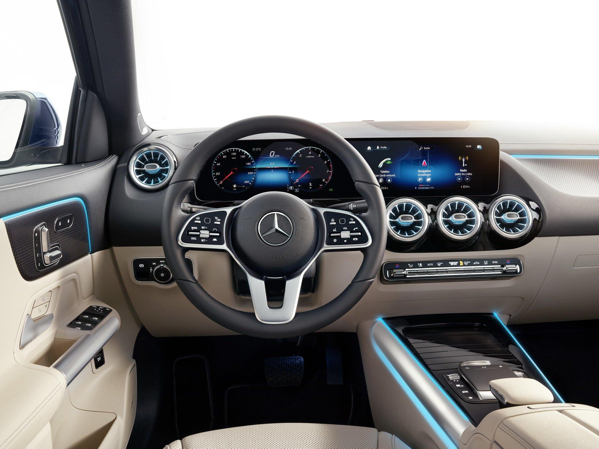 wnętrze Mercedes-Benz GLA 2020