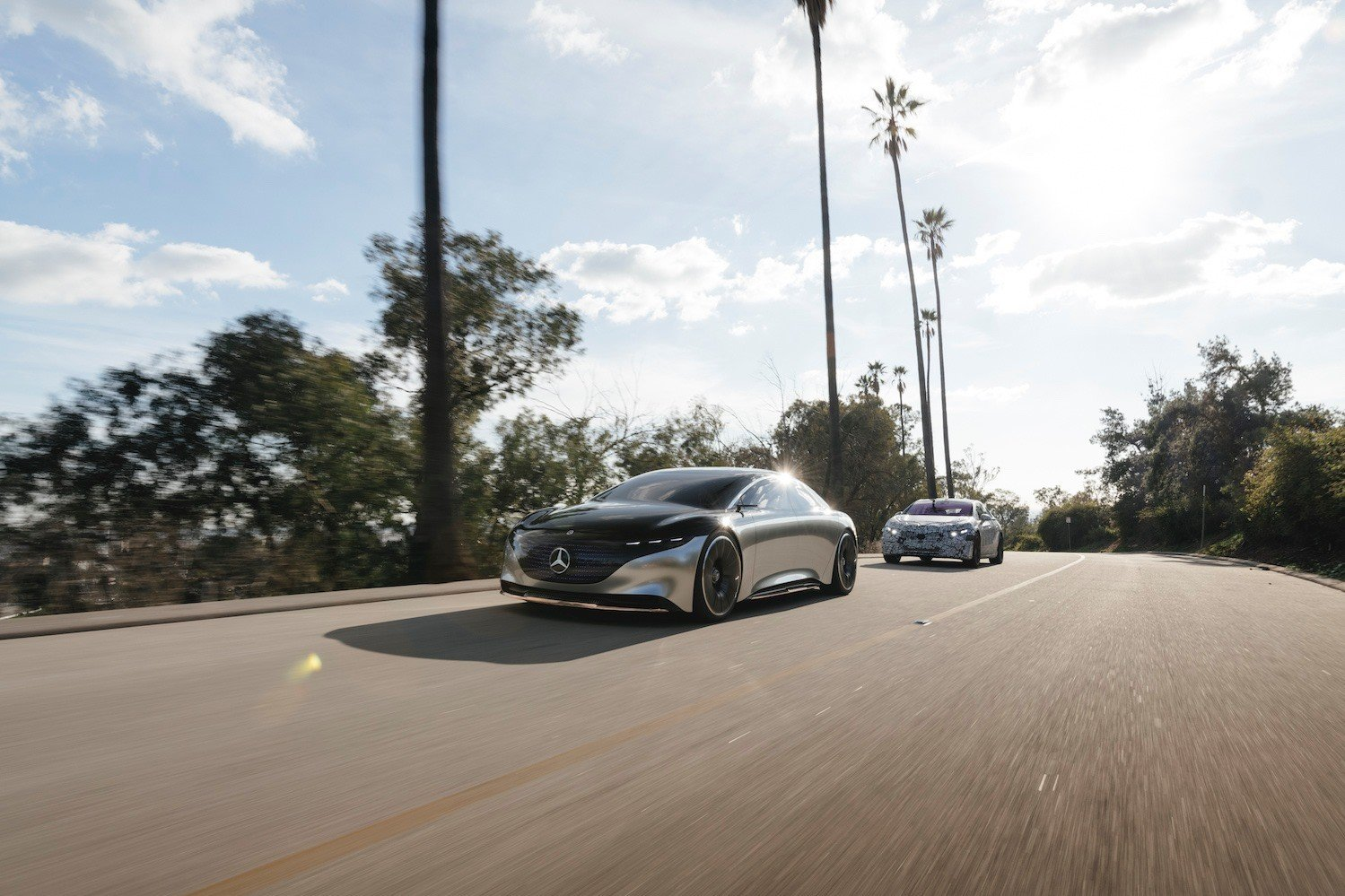 Mercedes EQS kamuflaż