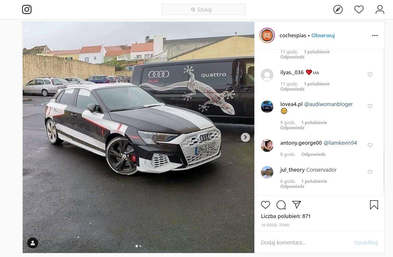 Audi S3 2021 - Instagram