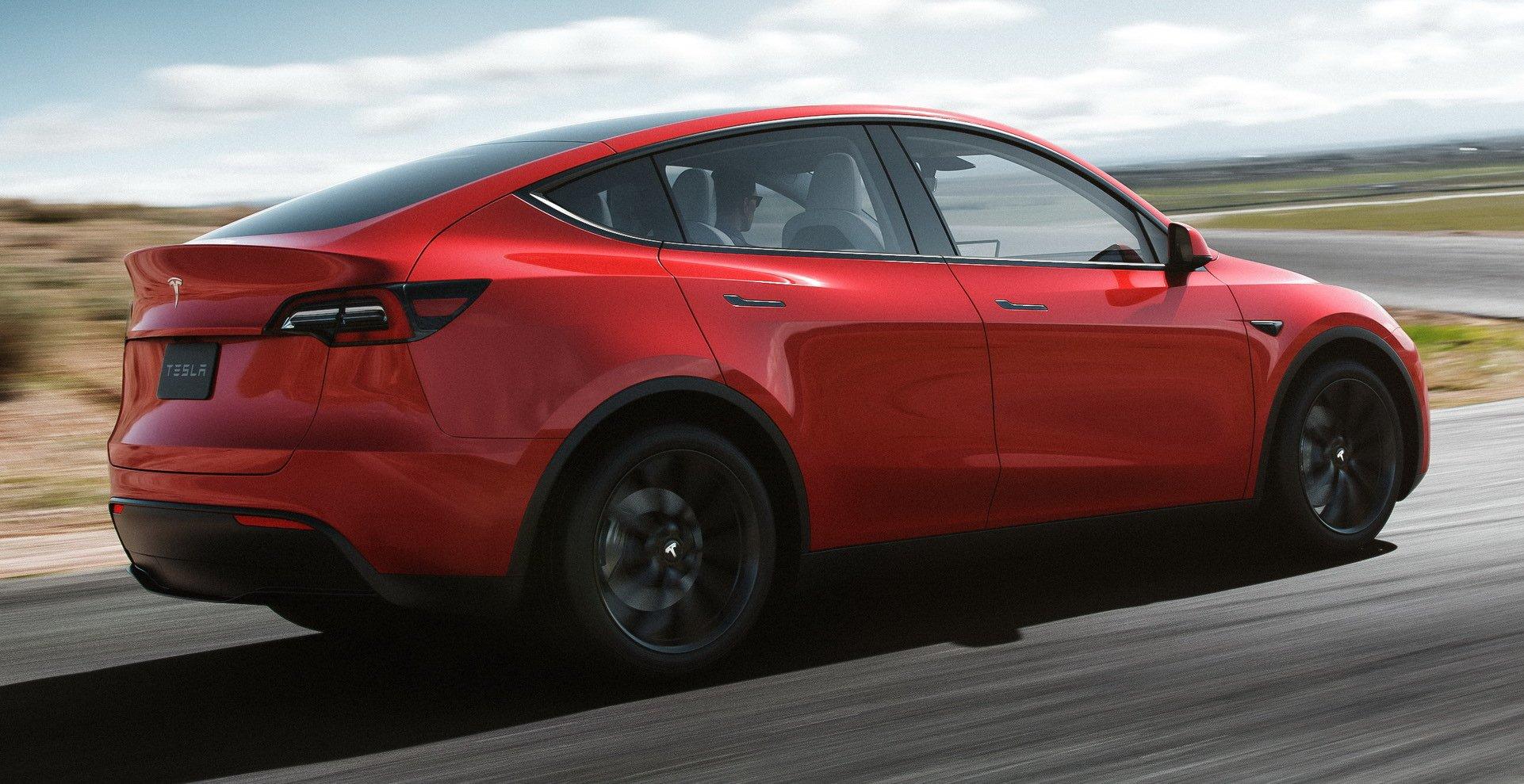 Tesla Model Y kolor czerwony