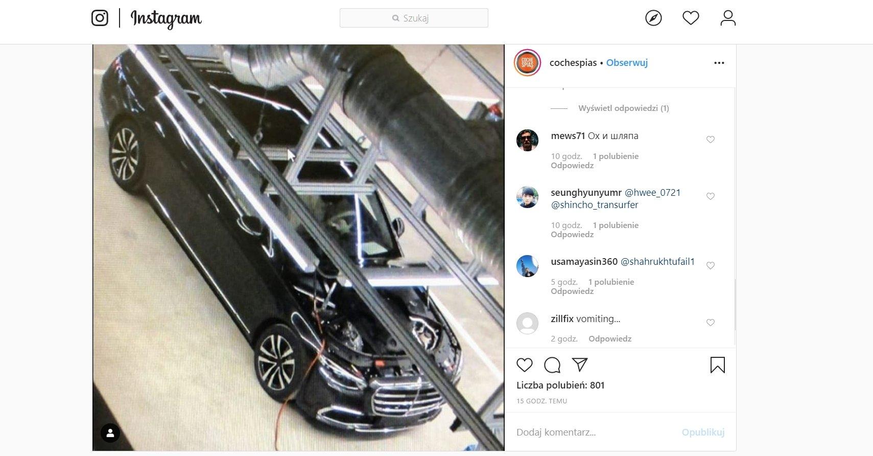 Mercedes S 2021 Instagram