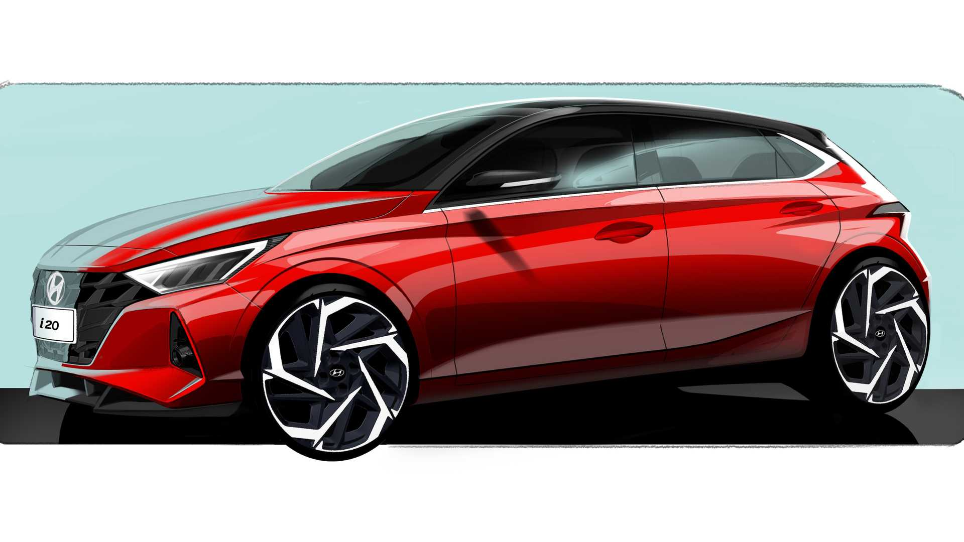 Hyundai i20 2020 szkic