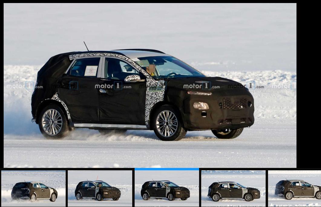 Hyundai Kona 2021 - zdjęcie szpiegowskie