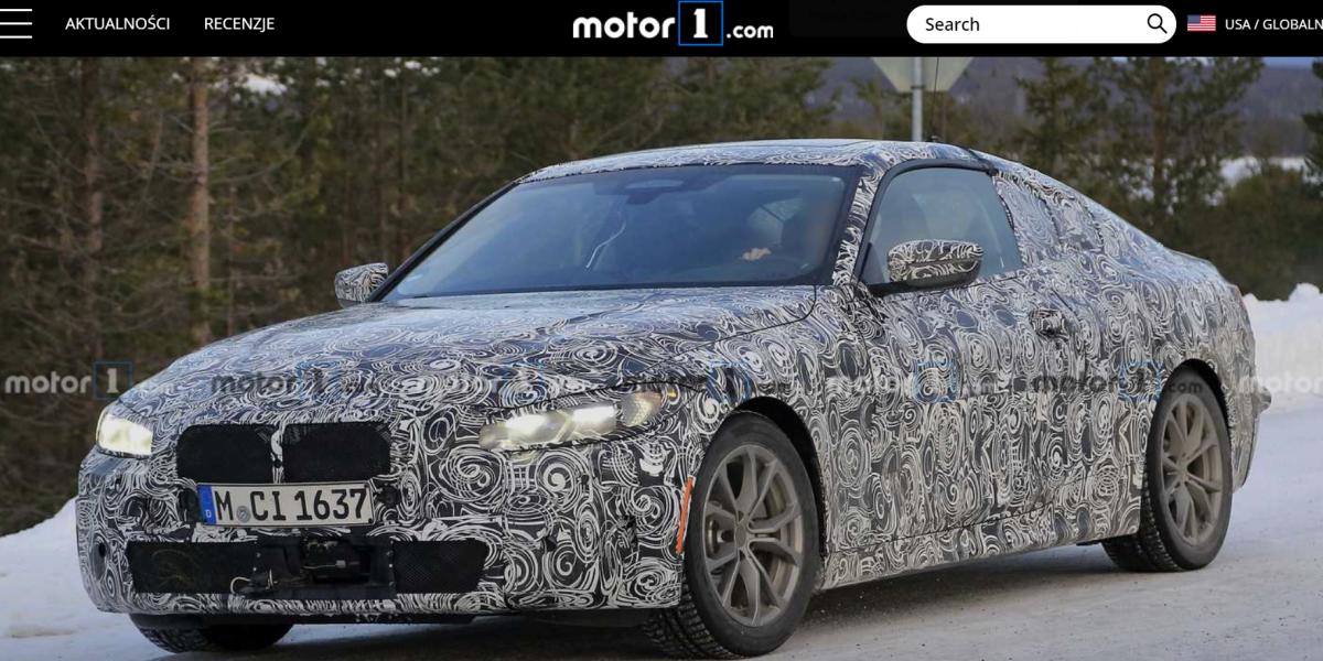 BMW serii 4 2020 szpiegowskie
