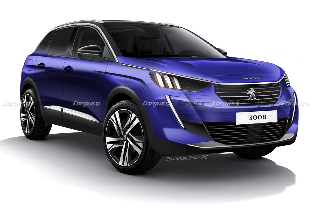 Peugeot 3008 2021 wizualizacja