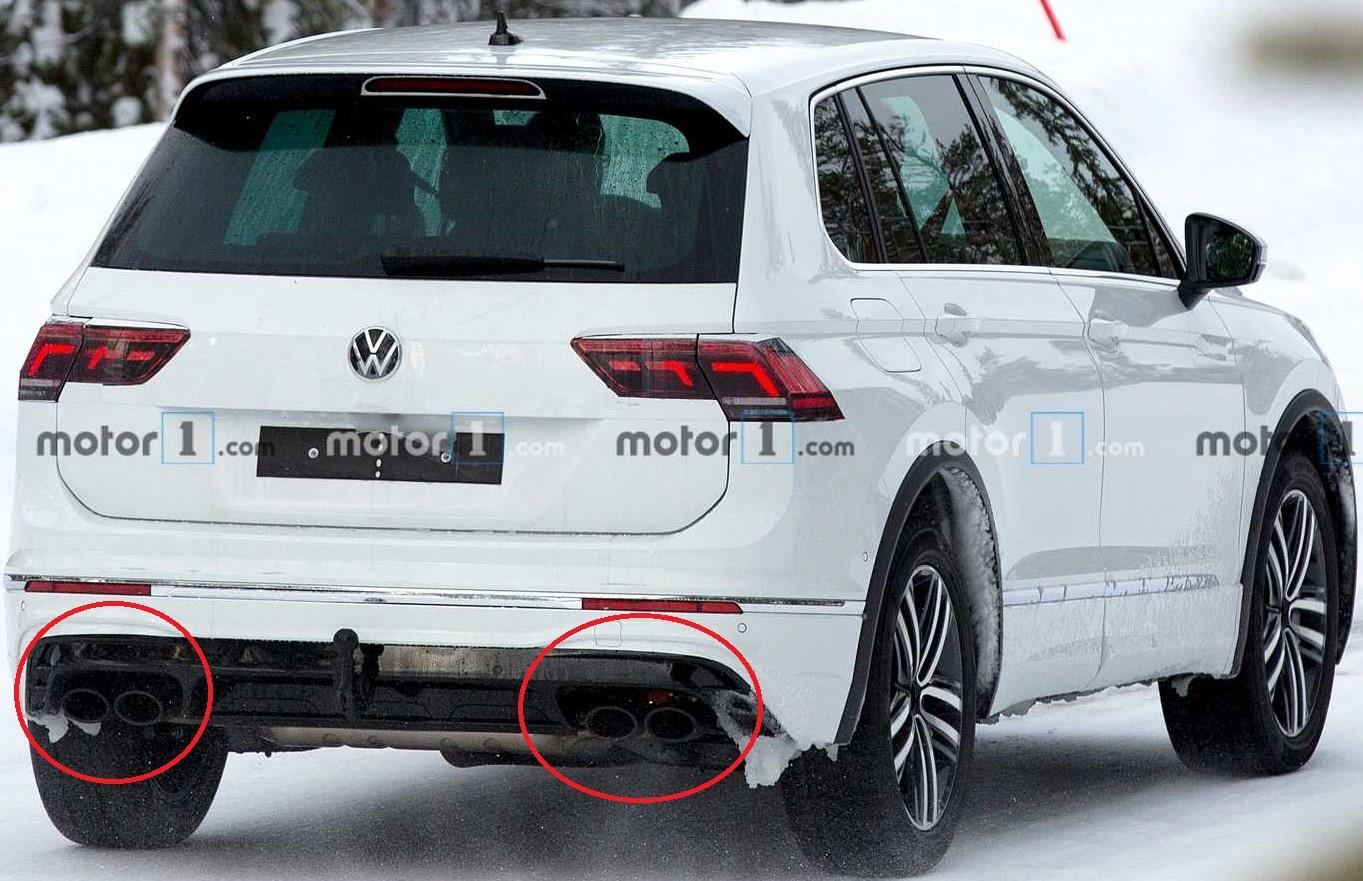 Volkswagen Tiguan R 2021 szpiegowskie