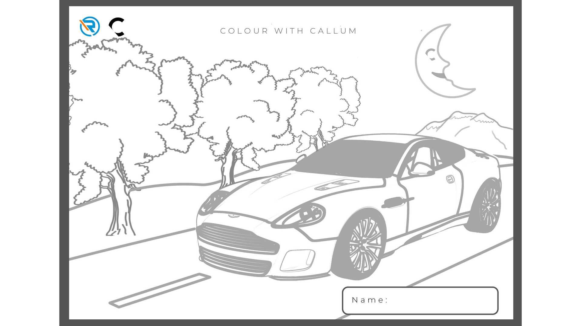 Aston Martin Vanquish 25 - kolorowanka dla dzieci
