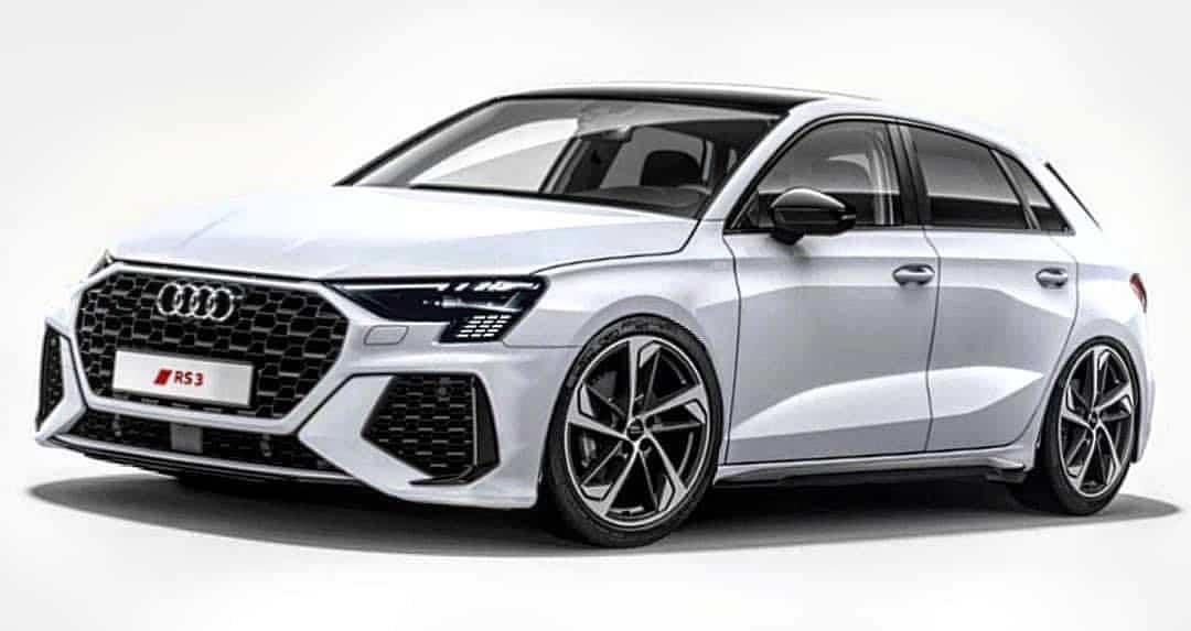 Audi RS3 2022 - przód wizualizacja