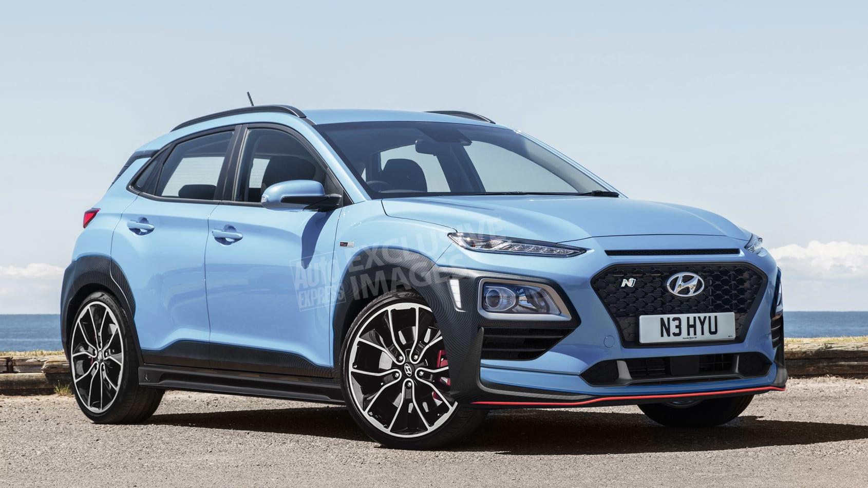 Hyundai Kona N (wizualizacja Avarvarii (AutoExpress)