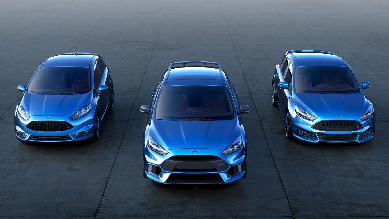 Trzy sportowe Fordy