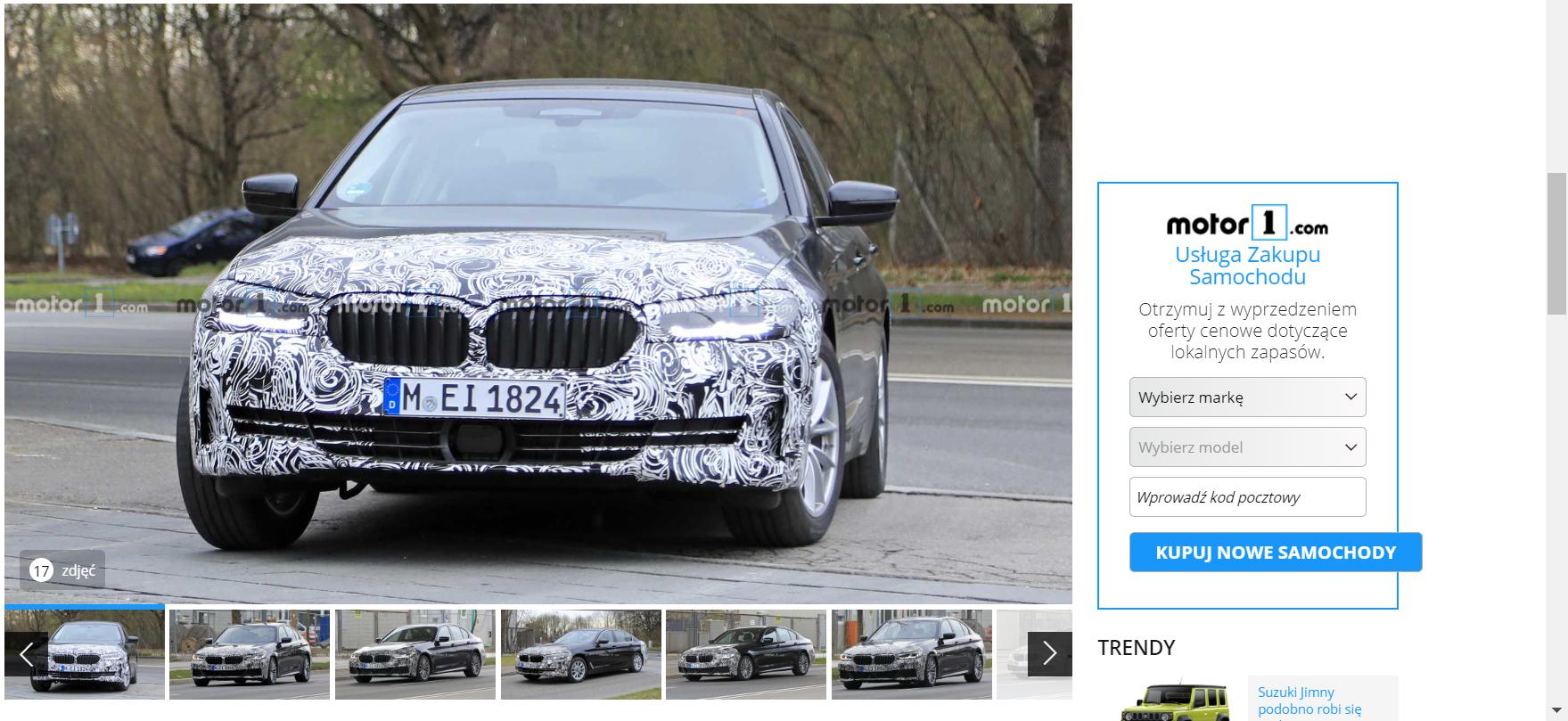 Nowe BMW serii 5 2021 - szpiegowskie