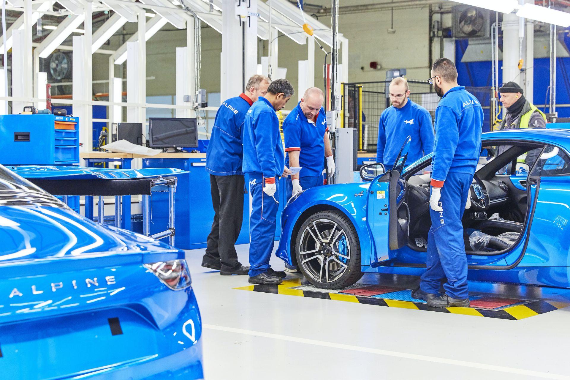 Produkcja Alpine A110 - fabryka w Dieppe