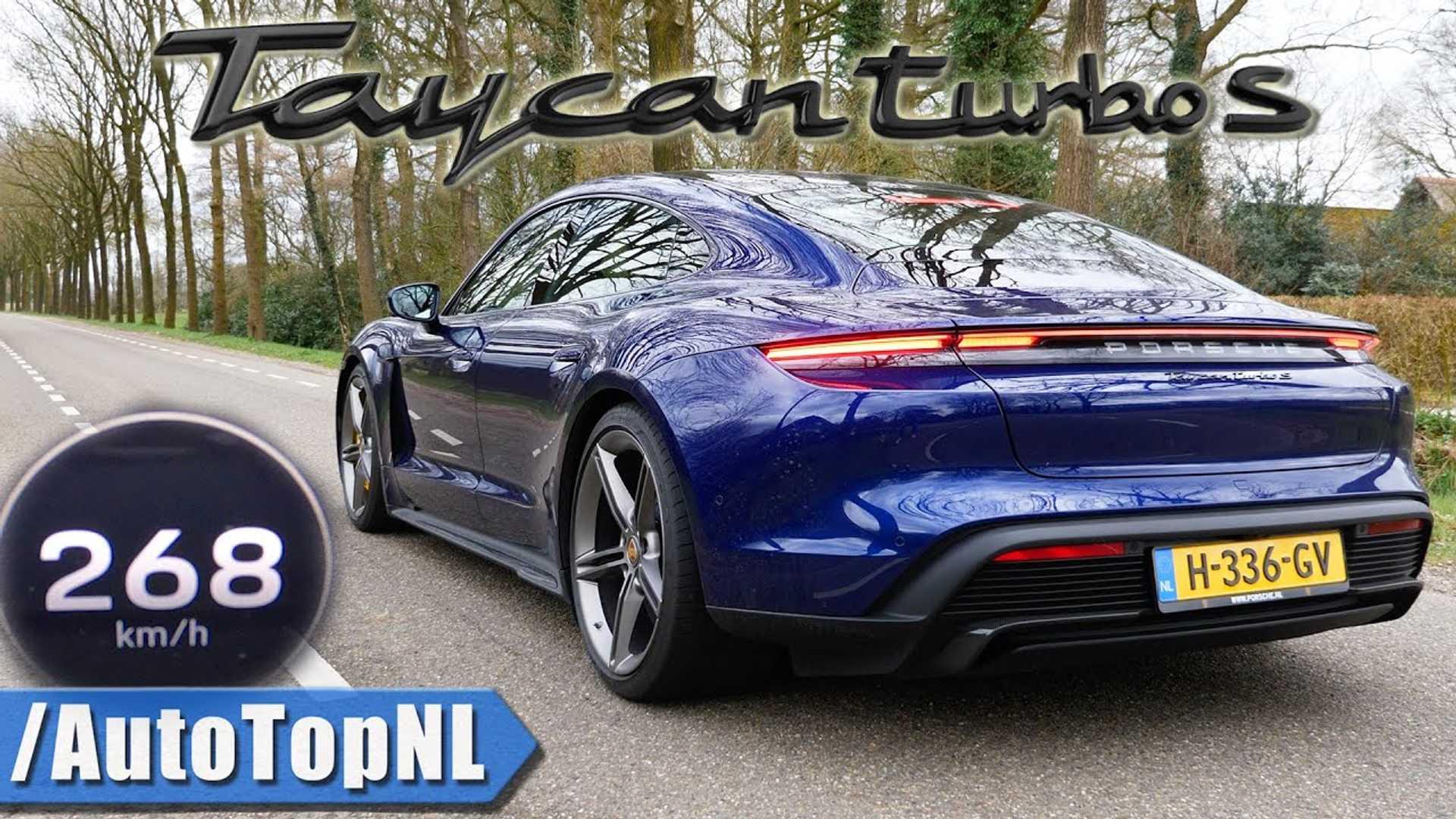 Porsche Taycan Turbo S: kolor niebieski (blue)