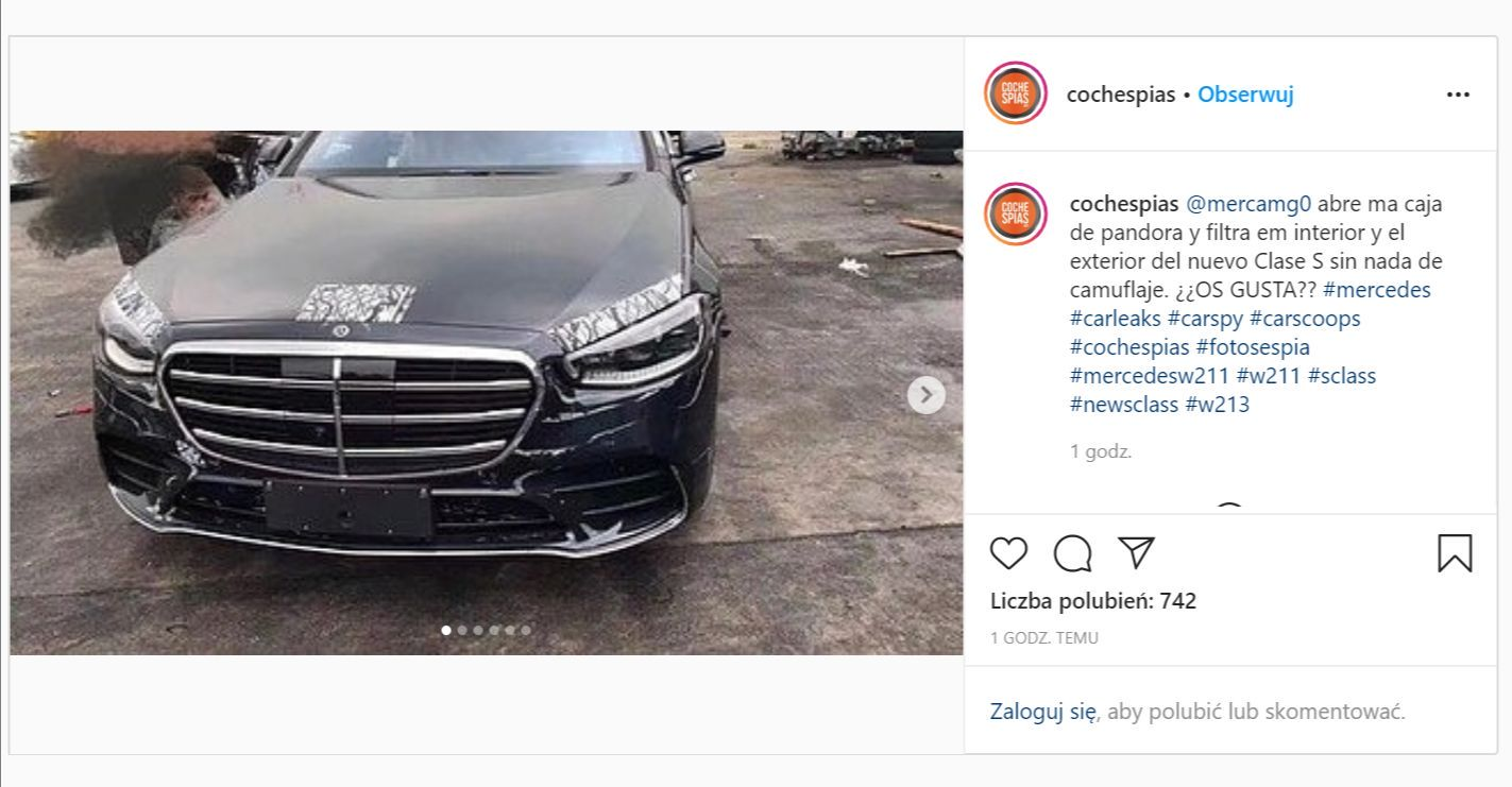 Mercedes Klasy S 2021 - fot: Cochespias