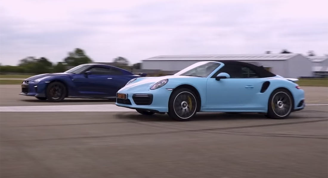 Porsche 911 Turbo S vs. Nissan GT-R 700 KM