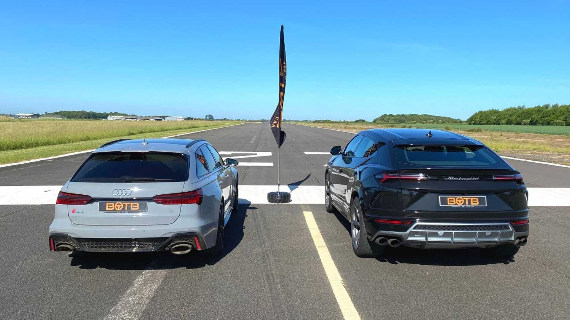 Audi RS6 Avant vs. Lamborghini Urus: Drag Race