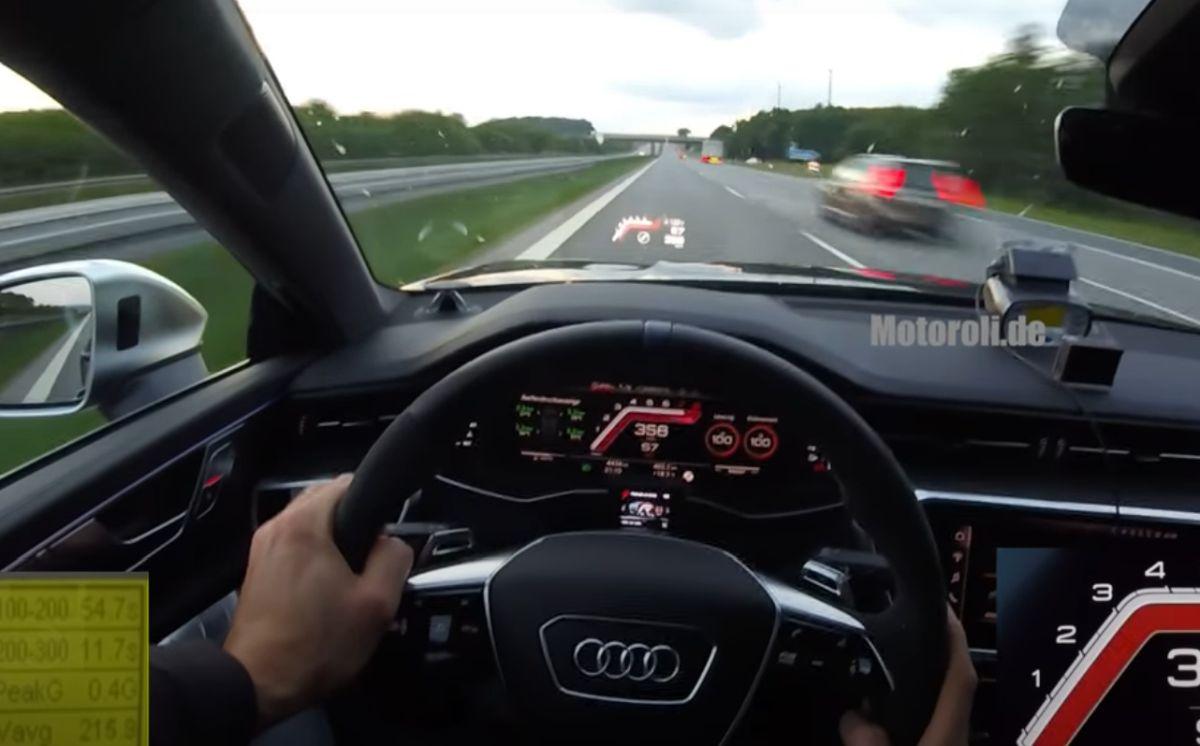 Audi RS7 Sportback (2020) na autostradzie